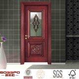Porte faite sur commande en bois solide en verre Tempered de garniture intérieure de salle de bains (GSP3-002)