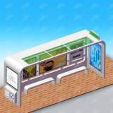 Edelstahl-Bus-Schutz-Bushaltestelle schützt das Station-im Freienbekanntmachen