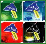 Un-Toucher le condom masculin de latex de marque