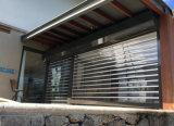 Rodillo transparente completa visión comercial de la puerta del obturador Frente del departamento