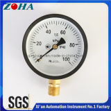 OEMのカスタマイズされる100kpaダイヤルが付いている商業Bourdon管圧力表示器