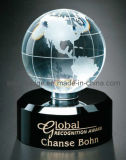 Trofeo cristalino del globo