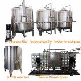 Bebidas carbónicas automáticas que llenan la línea para las botellas de cristal