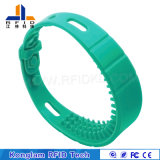 Wristband elegante del silicón universal RFID de la pantalla de seda para la playa de baño