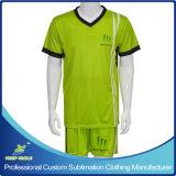 Uniforme rapida di gioco del calcio della squadra del randello del materiale asciutto di sublimazione su ordinazione