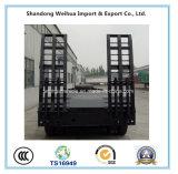 Китая 80t сверхмощный низкий кровати трейлер Semi с 4 Axles Fuwa