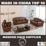 Sofá de cuero seccional casero moderno