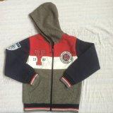 スクエア6712子供の羊毛2 PCSの衣服セットのジッパーの男の子のスポーツのスーツの衣服