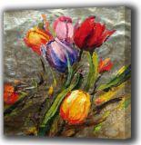 Pintura al óleo floral decorativa de la pintura (174)