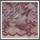 Шнурок шнурка вышивки Tulle шнурка вышивки сетки вышитый цветком