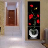 3개 피스 최신 인기 상품 화포 홈 훈장 Mc 215에 그려진 색칠 룸 장식 벽 예술 그림이 현대 벽화에 의하여 꽃이 핀다