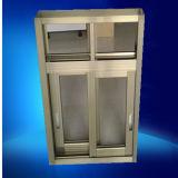 Anodizado color oro individual Clear Glass Aluminio Ventana corredera