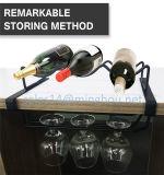 Montage-Metallcountertop-Wein-Zahnstange mit Glashalter für Küche