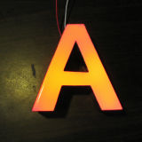 Quadro de avisos do diodo emissor de luz da letra de canaleta de Plexiglás do Cara-Lit