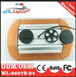 12V/24V 24W diodo emissor de luz linear magnético ambarino mini Lightbar para o carro