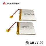 Bateria recarregável 3.7V 1600mAh do polímero do lítio 535058