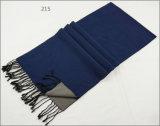 人のレディース男女兼用のツートーン可逆カシミヤ織の感じの冬の暖かい印刷の厚く編まれた編まれたスカーフ(SP824)