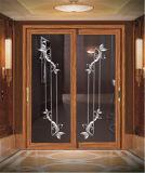 Porte coulissante en aluminium de la mode 2017 décorative pour la chambre à coucher