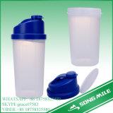 пластичная бутылка Shake бутылки протеина Горяч-Сбывания 600ml