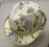 Chapéu tropical do Fedora da palha das senhoras da forma para o verão