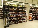 Rek van de Vertoning van de Wijn van het Metaal van het Chroom van 6 Rijen van de supermarkt het Regelbare