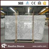 Bonne brame de marbre blanche de Bianco Carrare de qualité pour le mur de cuisine/étage/partie supérieure du comptoir/dessus de vanité/dessus de Tableau
