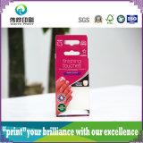 Doblado caja de papel de embalaje colorido de esmalte de uñas