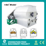 Shaft dobro Feed Mixer Machine com Porta-Opening Discharging Mechanism