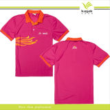Custom Printing Pink Polo Shirt