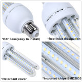 명확한 덮개 360degree IP33 LED 옥수수 램프 E27 SMD2835 9W LED 옥수수 빛