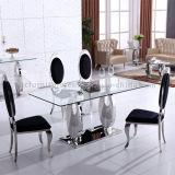 Vidro temperado com estilo moderno Mesa de jantar com 8 lugares de vidro temperado