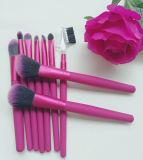 9 волос ручки Rose частей щетки состава щетки красных деревянных синтетических косметической
