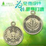 Пользовательские Спорт / Бег / Монета / Pin / Medallion / Gold / Сувенирная / цинковый сплав / Silver / Эмаль / Marathon / Знак Медаль с лентой