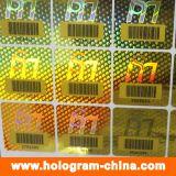 안전 반대로 위조 Barcode 홀로그램 스티커