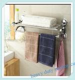 タオル棒が付いているクロム染料で染められたステンレス鋼のシャワーの容器ラック