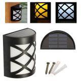 Der 6 LED-angeschaltenes Zaun-Rinne-Licht-im Freien Garten-Yard-Patio-Plattform-Dach-Wand-Bahn-Lampen-weißes/warmes Solarweiß imprägniern