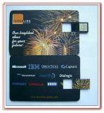 Mecanismo impulsor del flash del USB de la tarjeta de visita con la insignia libre Tc06