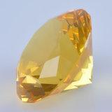 Машина сделала пресс-папье офиса диаманта кристаллический стекла с по-разному цветом