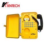 Telefone resistente do vândalo impermeável resistente do telefone Knsp-01t2s de Industial