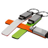 Excitador feito sob encomenda 512MB-128GB do USB 2.0 do couro do logotipo