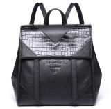 O couro genuíno Backpacks sacos de escola para o ombro Packbag Emg4670