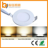 2016 diodo emissor de luz magro Quente-Selling novo Ceiling AC85-265V 3W 270lm 3years Warranty Round Lamp Panel Light