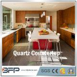 Opgepoetst Natuurlijk Kwarts voor Keuken/Countertop van de Ijdelheid in Projecten
