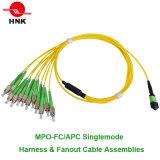 Проводка MPO & дует вне сборки кабеля