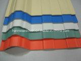 Grünes Haus-Kunststoff ein die Schicht Belüftung-Dach-Fliesen/runzelte Plastik-UPVC Dach-Blatt/Qualität