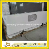 Bancada de pedra branca pura comercial de Quratz para o banheiro