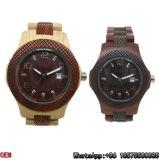 Horloge van het Kwarts van het Horloge van de hoogste-kwaliteit het Houten Hl28