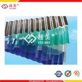 온실을%s 명확한 착색된 플라스틱 물결 모양 폴리탄산염 루핑 장