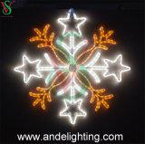 2D Wasserdichtes Weihnachtsschneeflocke-Motiv beleuchtet Dekorationen