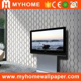 Papel de empapelar profundamente realzado italiano del PVC del diseño (MK830505)